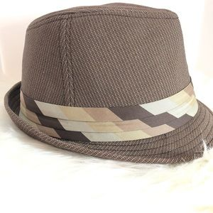 Good in Bros. Brown Plaid Fedora Hat